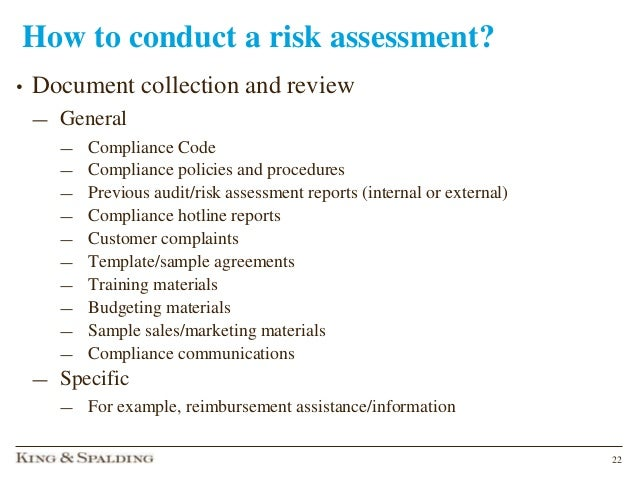Keeping house compliance risk assessment medical device summitpptx 22 how to conduct a risk assessment pronofoot35fo Images