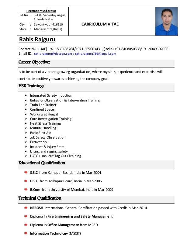 Resume Rahis Rajguru Hse Coordinator