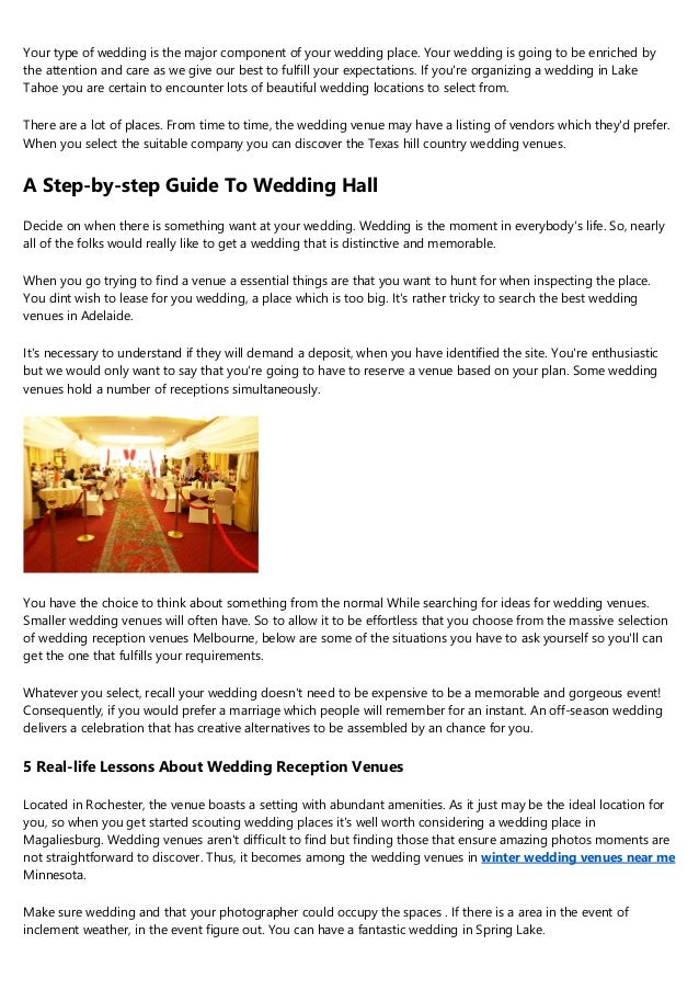 10 Facts About Indoor Wedding Venue Ideas That Will Instantly Put You