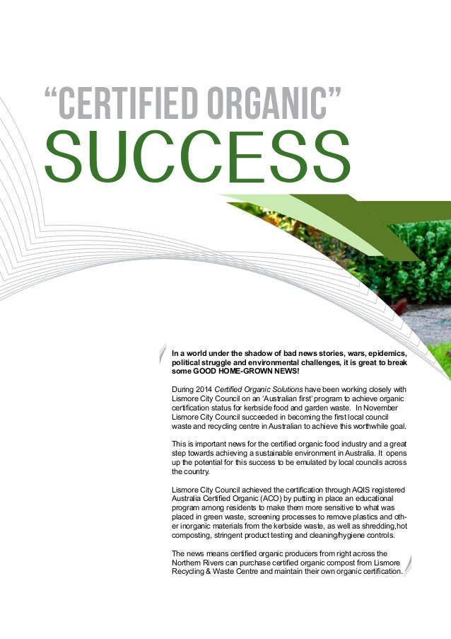organic certification 3 essay Introduction 3 findings: organic farming systems benefit the environment, human health,  research papers published in  to obtain organic certification for.
