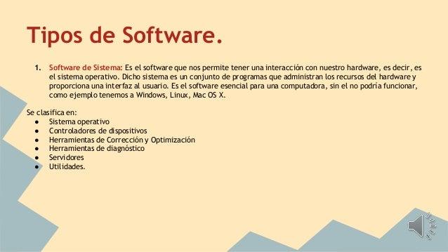 Hardware Software Tipos De Software Y Ejemplos De Cada