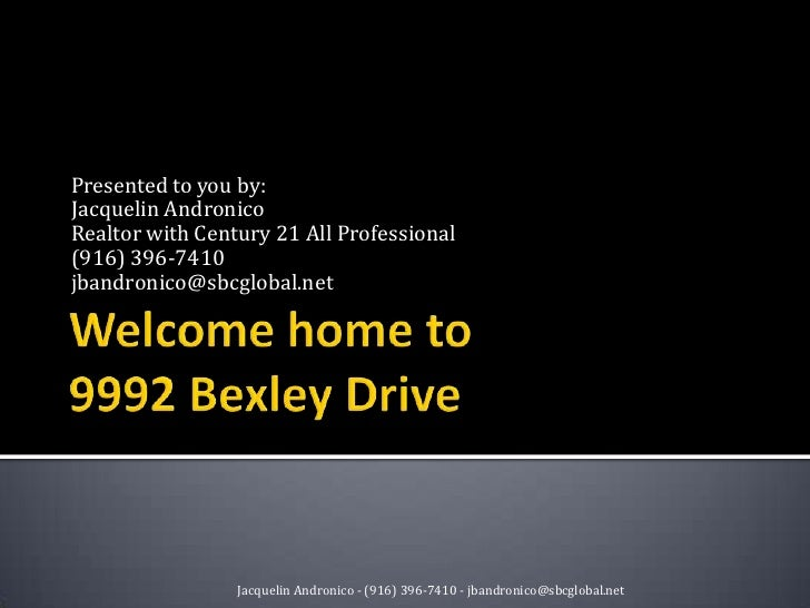 Welcome home to 9992 Bexley Drive<br />Presented to you by:<br />Jacquelin Andronico<br />Realtor with Century 21 All Prof...