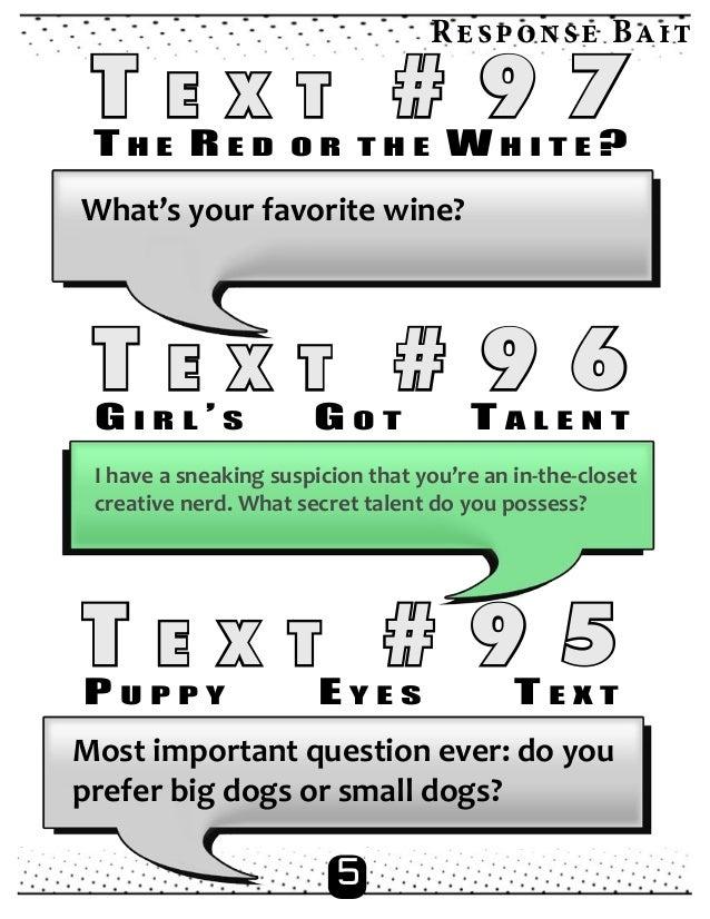 Best texts to send girls