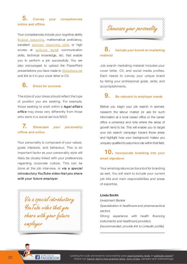 99 career tips - free psychometric tests