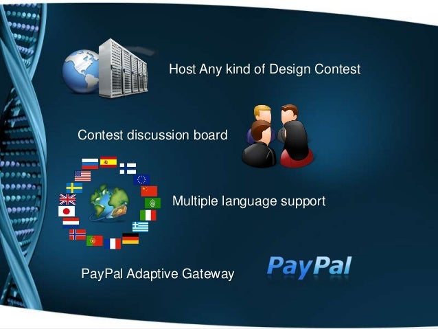 Host Any kind of Design ContestContest discussion boardMultiple language supportPayPal Adaptive Gateway