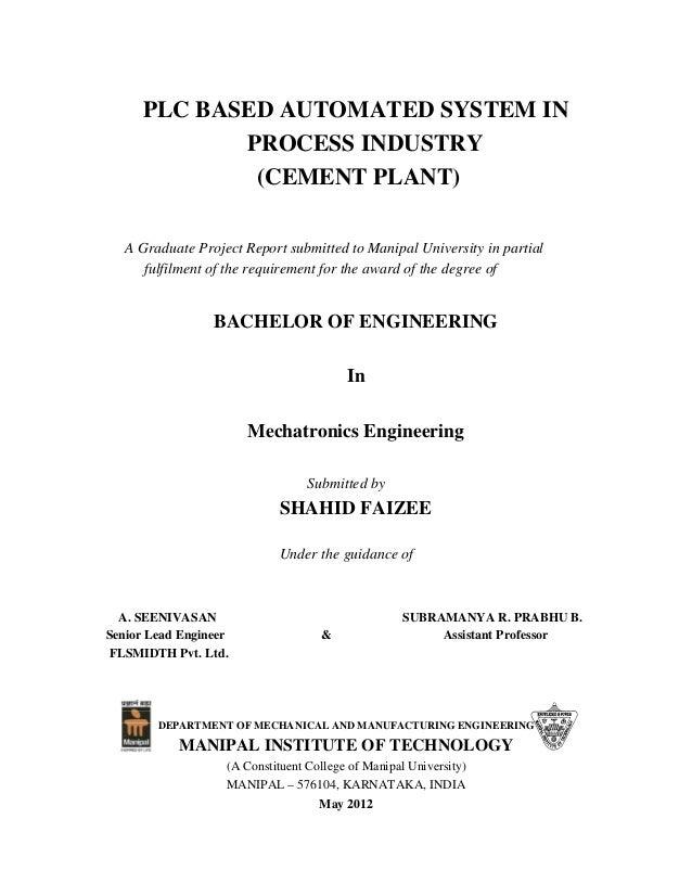 flsmidth report final rh slideshare net Controls Engineering Degree Robotics Engineering and Control