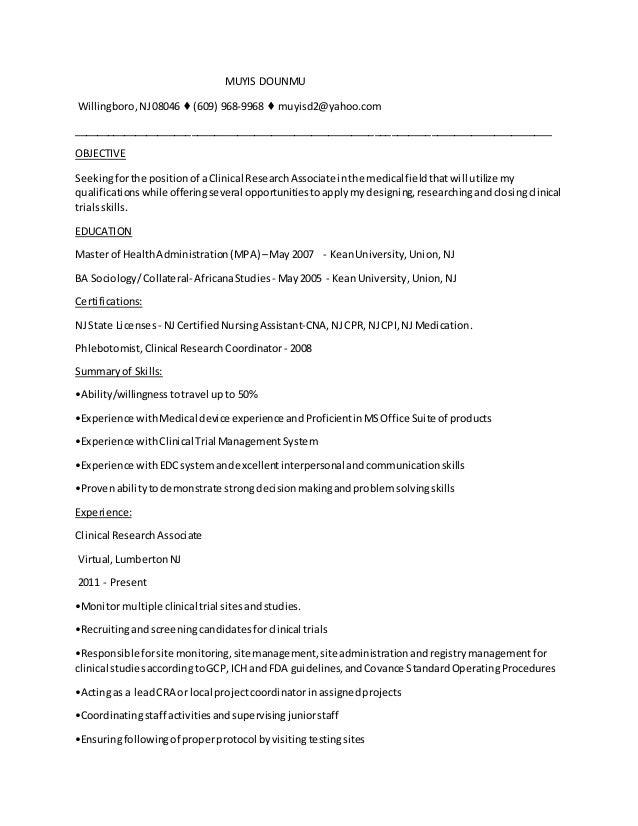 resume cra n2