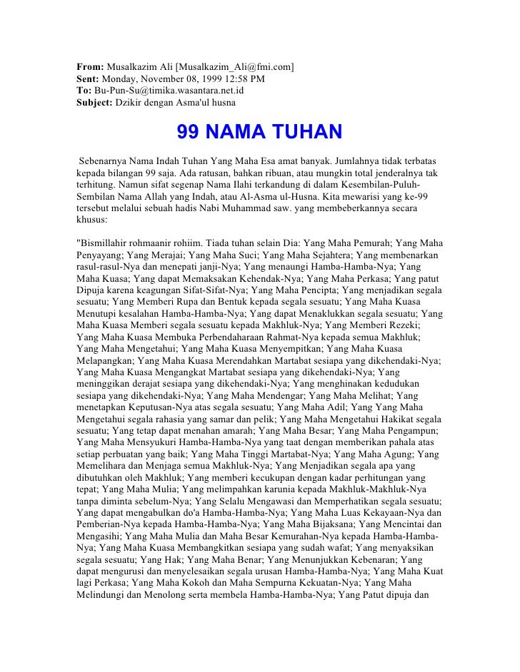 From: Musalkazim Ali [Musalkazim_Ali@fmi.com] Sent: Monday, November 08, 1999 12:58 PM To: Bu-Pun-Su@timika.wasantara.net....