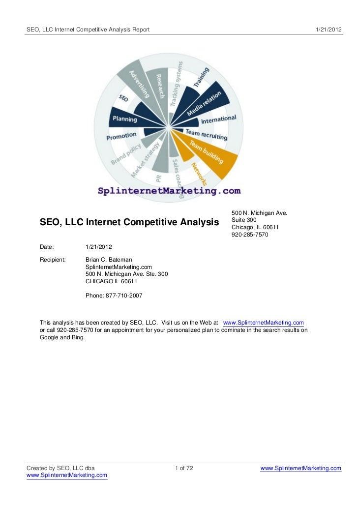 SEO, LLC Internet Competitive Analysis Report                                                                 1/21/2012   ...