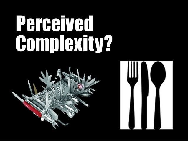 Perceived Complexity?