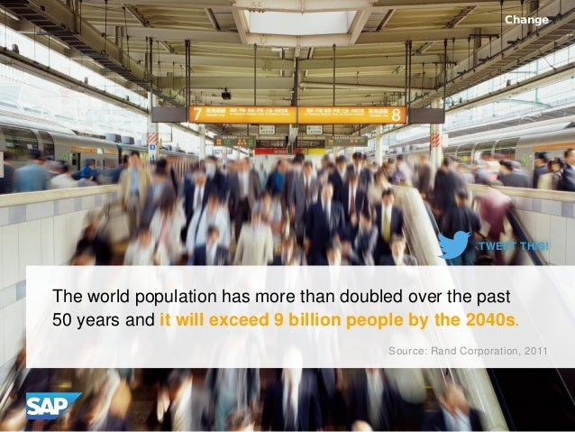 The world population has more than doubled over the past 50 years and it will exceed 9 billion people by the 2040s. Change...