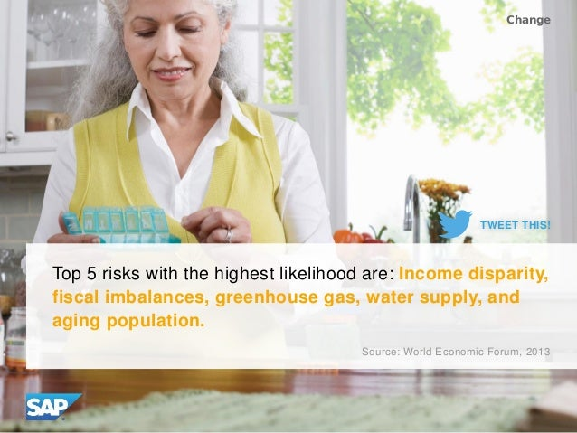 Top 5 risks with the highest likelihood are: Income disparity, fiscal imbalances, greenhouse gas, water supply, and aging ...