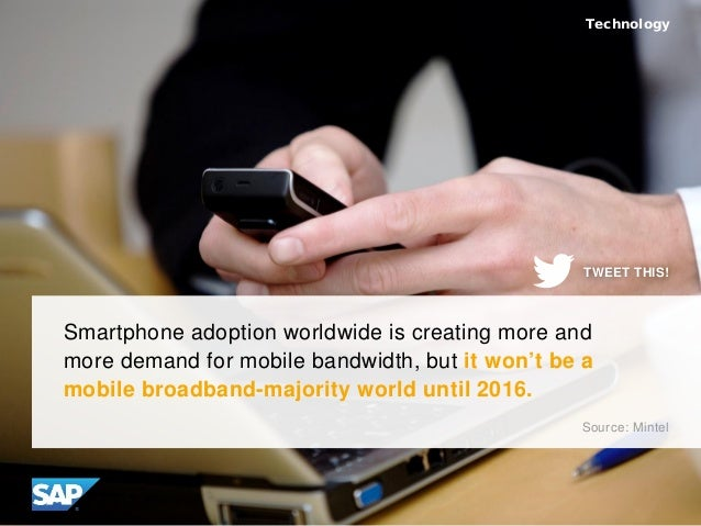 Smartphone adoption worldwide is creating more and more demand for mobile bandwidth, but it won't be a mobile broadband-ma...