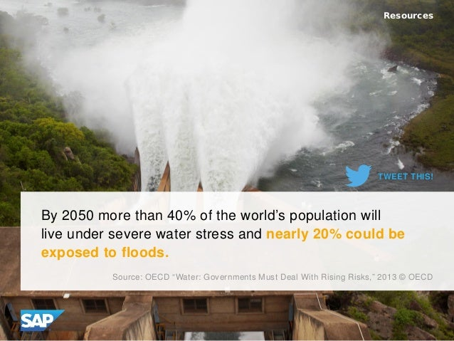 By 2050 more than 40% of the world's population will live under severe water stress and nearly 20% could be exposed to flo...