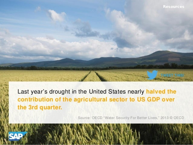 Last year's drought in the United States nearly halved the contribution of the agricultural sector to US GDP over the 3rd ...