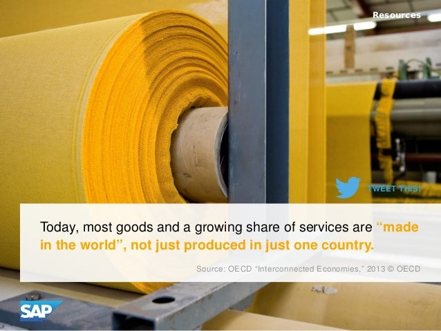 "Today, most goods and a growing share of services are ""made in the world"", not just produced in just one country. Resource..."