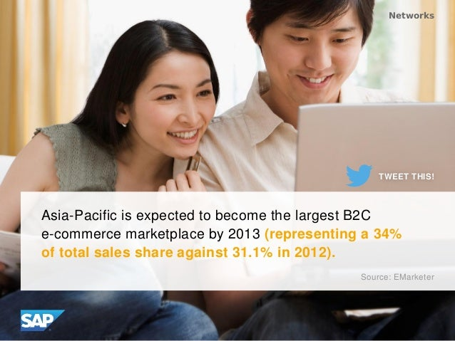 Asia-Pacific is expected to become the largest B2C e-commerce marketplace by 2013 (representing a 34% of total sales share...