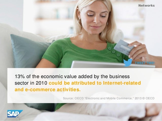 13% of the economic value added by the business sector in 2010 could be attributed to Internet-related and e-commerce acti...