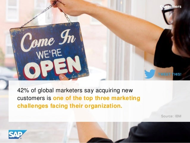 42% of global marketers say acquiring new customers is one of the top three marketing challenges facing their organization...