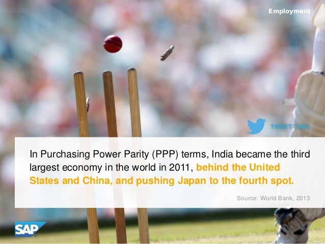 In Purchasing Power Parity (PPP) terms, India became the third largest economy in the world in 2011, behind the United Sta...