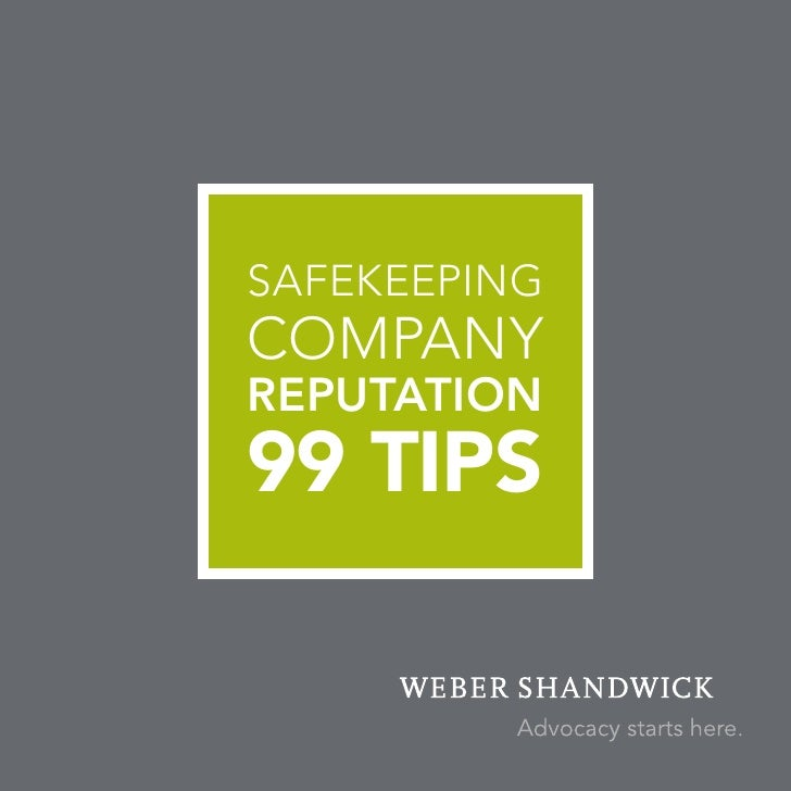Safekeeping company Reputation 99 Tips