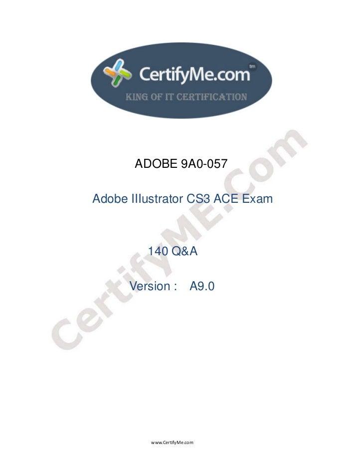 ADOBE 9A0-057                                 Adobe IIIus...