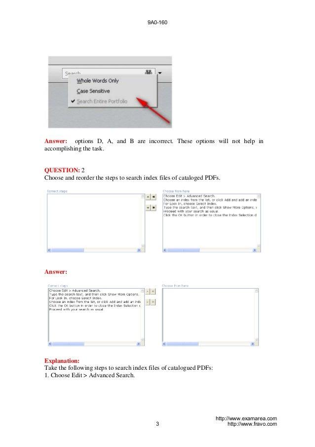 9A0-160-Exam- Adobe Acrobat X Pro