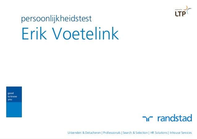 persoonlijkheidstest Erik Voetelink Uitzenden & Detacheren | Professionals | Search & Selection | HR Solutions | Inhouse S...