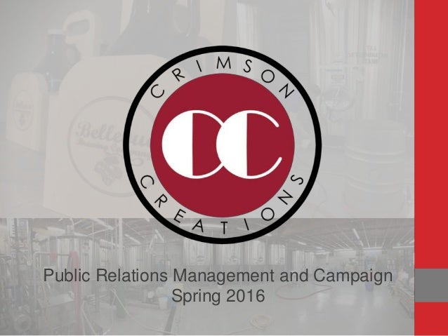 Public Relations Management and Campaign Spring 2016