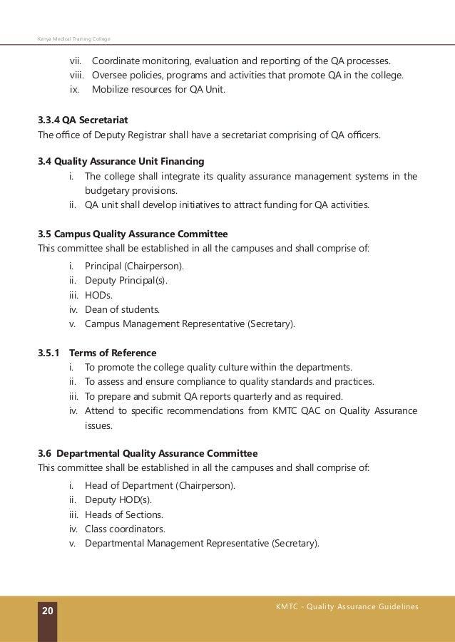 kmtc quality assurance guidelines 2016 rh slideshare net Quality Assurance Performance Improvement QAPI Software Quality Assurance