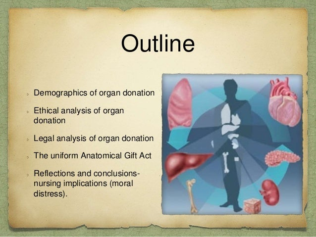 an ethical implication of organ transplants Donation: an investigation of the ethical issues to you two experts in  rewards  for organ donation may initially come up against resistance, it.