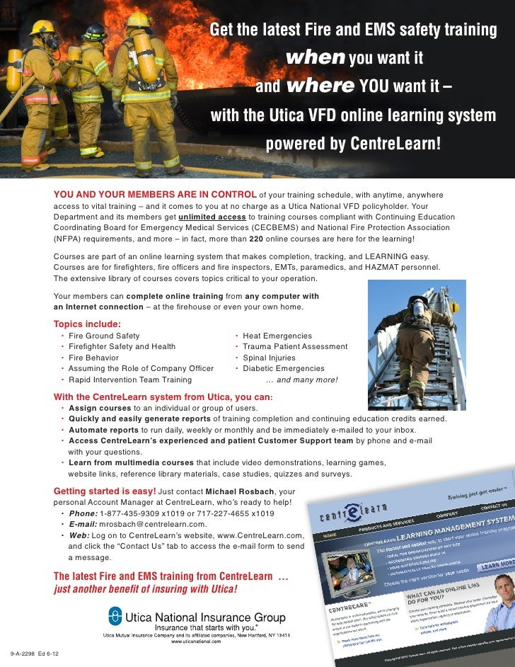 Utica VFD Online Learning System powered by CentreLearn