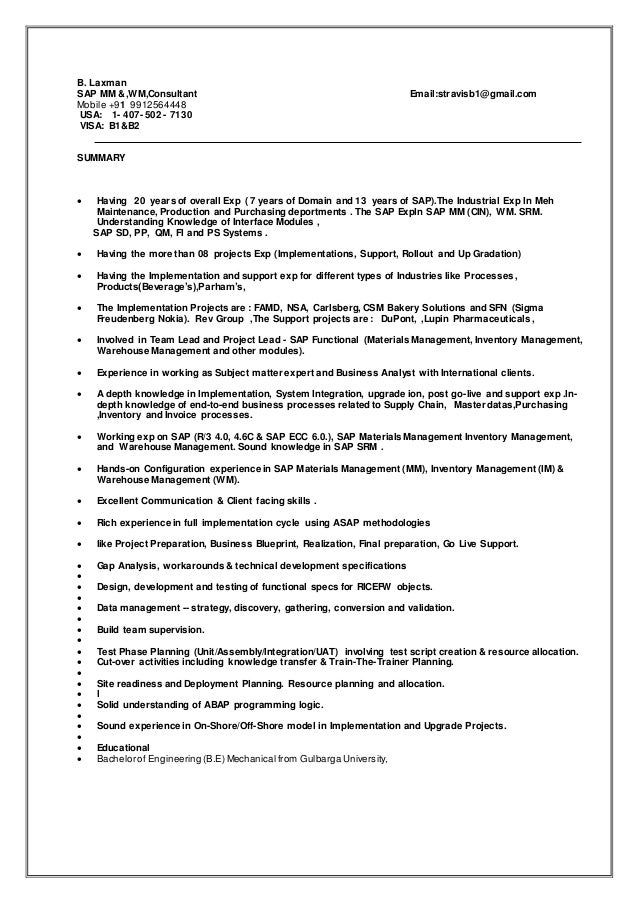 B. Laxman SAP MM U0026,WM,Consultant Email:stravisb1@gmail.