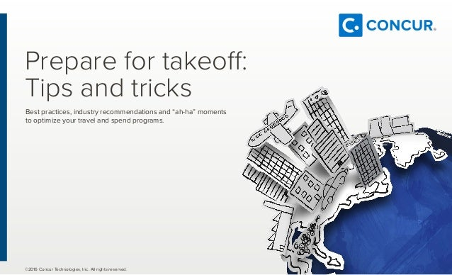WW Tip Sheet- Industry Tips and Tricks from Concur