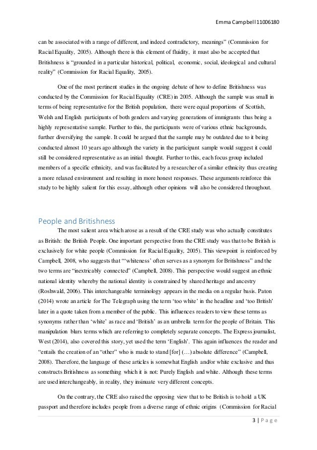 Commission for racial equality definition essay