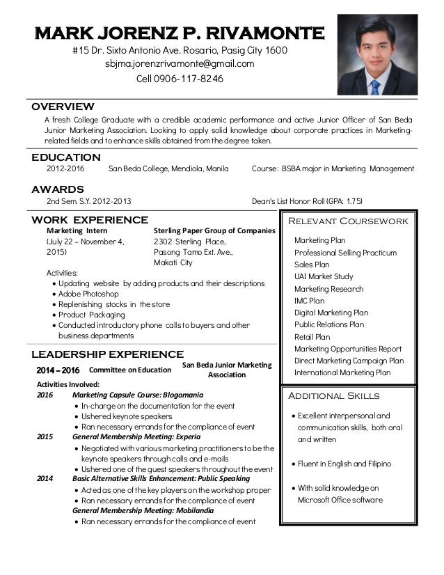 create my cover letter - Sample Resume Bsba Graduate