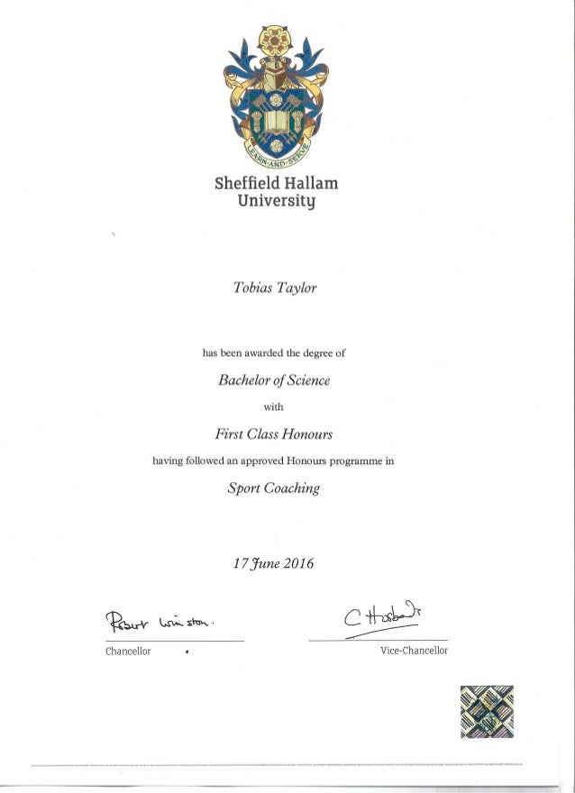 bsc first class honours degree sport coaching  page 1