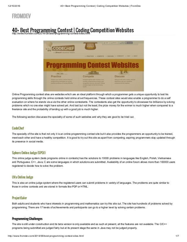 f86afc052b 40+ Best Programming Contest   Coding Competition Websites   FromDev