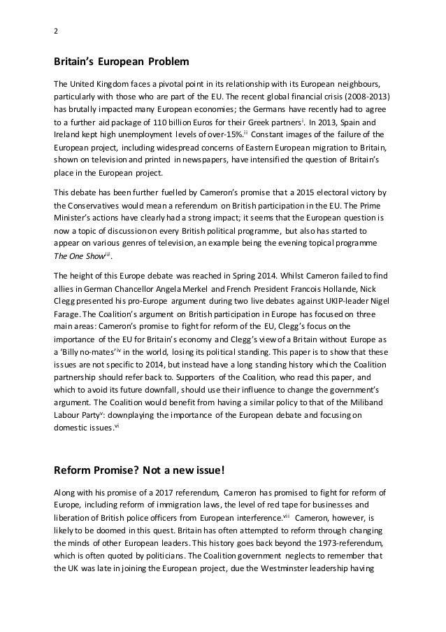 thatcherís european policy essay Check out this european union policy essay paper buy exclusive european union policy essay cheap order european union policy essay from $1299 per page.
