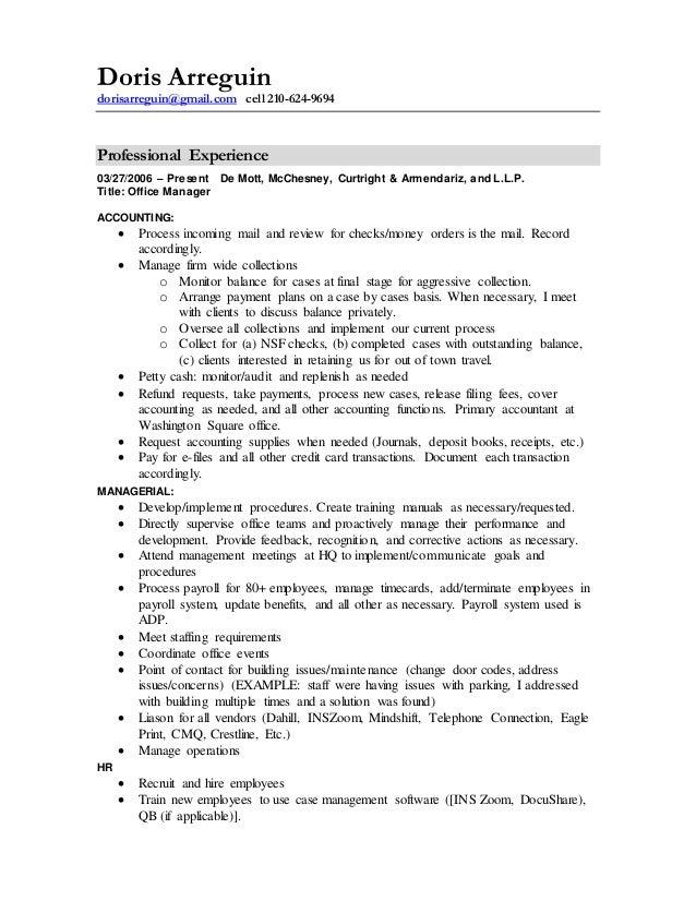Resume -Doris Arreguin