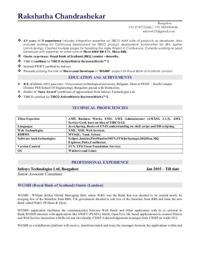 tibco developer resume doc 28 images rakshatha resume staff