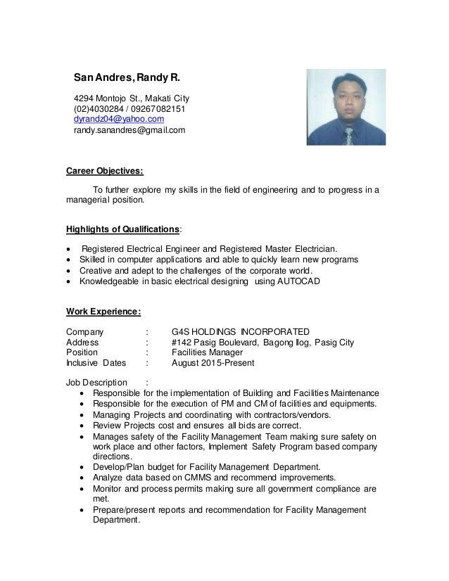 randy san andres resume