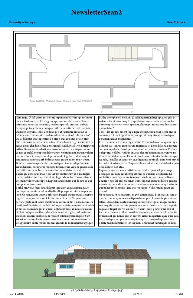 NewsletterSean2 University of GeorgiaDate, Volume # adkfj;alkdfja;ldkfa;dfkajd;flakjd;fkladf;adfja;jf S...