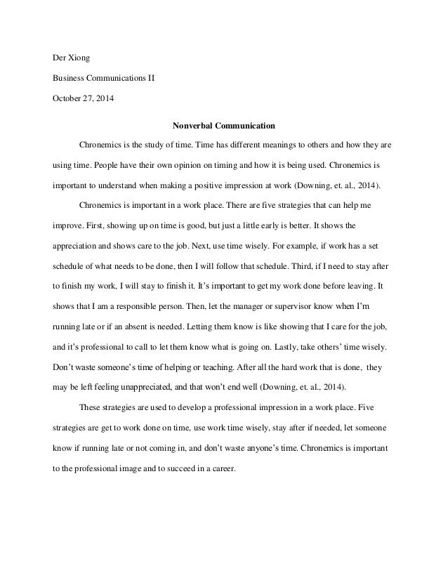 Essay1nv Both concepts are pertinent to chronemics. essay1nv