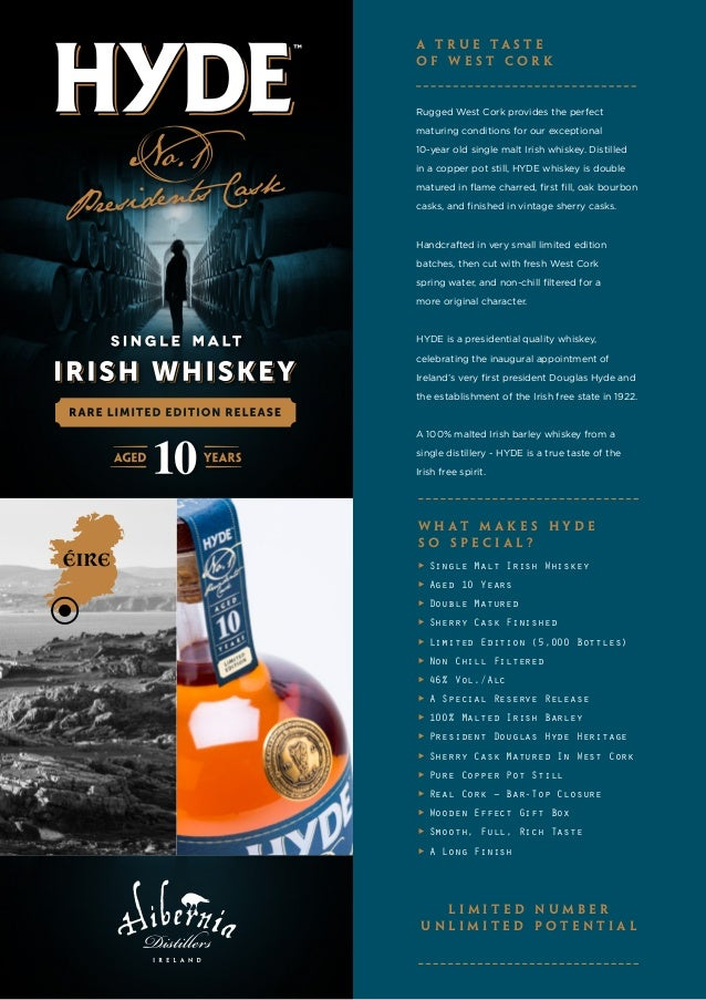 Rugged West Cork provides the perfect maturing conditions for our exceptional 10-year old single malt Irish whiskey. Disti...