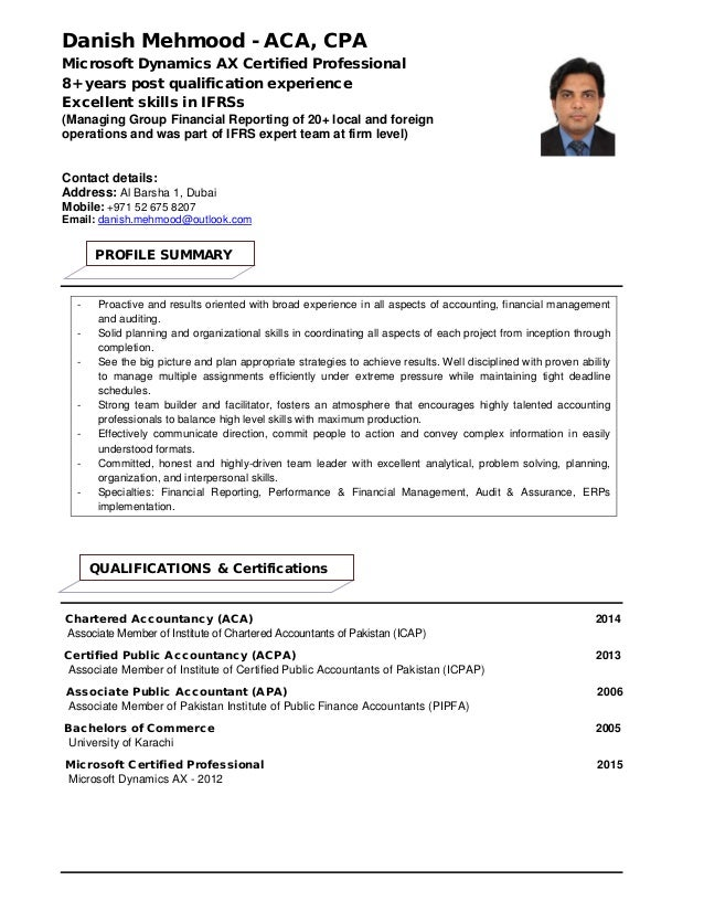 Dynamics Ax Resume | My Resume