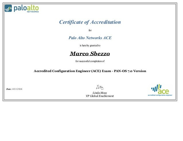Palo Alto ACE 101 Certification
