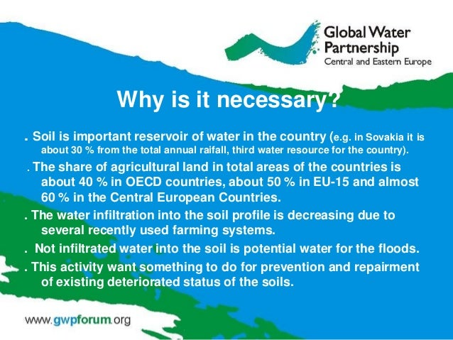 Why is it necessary? . Soil is important reservoir of water in the country (e.g. in Sovakia it is about 30 % from the tota...