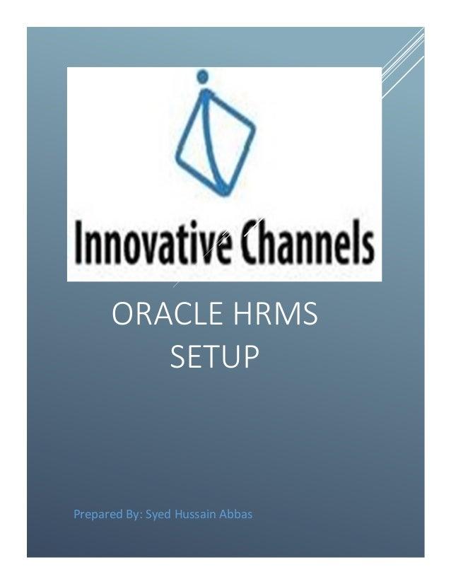 Oracle EBS HRMS SETUP