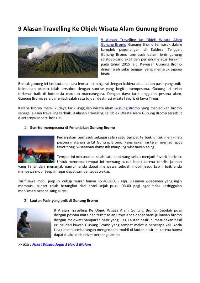 9 Alasan Travelling Ke Objek Wisata Alam Gunung Bromo